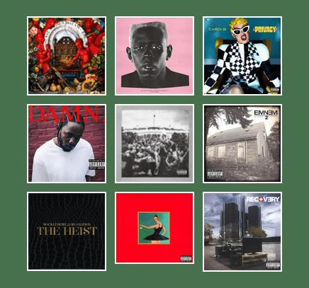 New Rap Albums 2019 Grammy Winners for Best Rap Album 1996 2019   Santa Clara County
