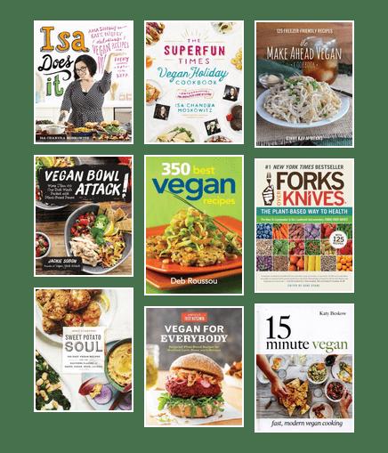 Vegan cookbooks featuring easy recipes