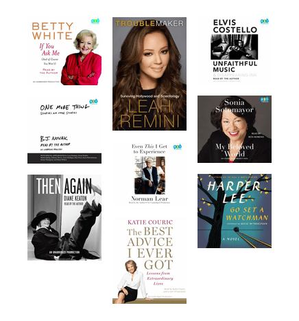 famous audiobook narrators the seattle public library bibliocommons