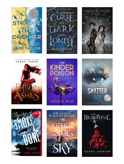 YA Fantasy/Dystopian/Romance Recommendations | King County Library