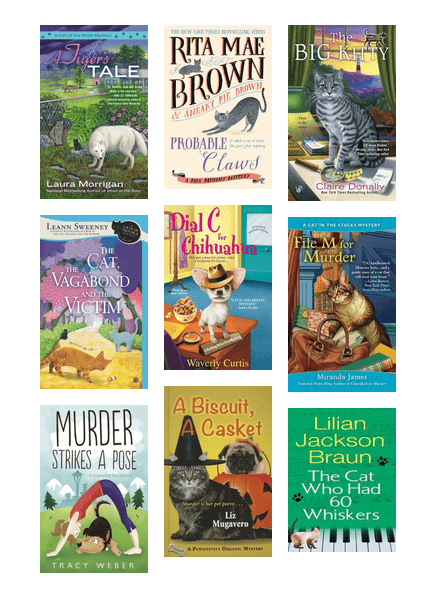 Cozy mysteries featuring furry friends