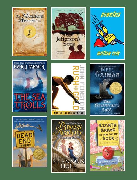 Seventh Grade Book List