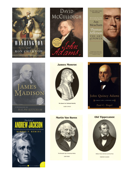 My Presidential Biography List, 1-32 | Lawrence Public